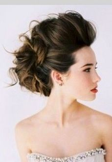Really love this stylish messy up do for my big day #wedding #updo #hair