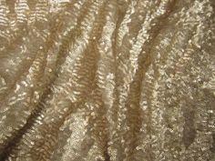 sequin fabric, gold sequin