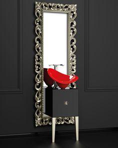 Remplissez vos salles de bain avec les couleurs de la saison.  Collection Monnalisa by Glass Design.  #amsld #bathroom #interiordesign #luxe