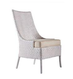 Riva Dining Chair, Hourglass Weave - Salt