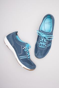Helen Navy Aqua Suede from the Halifax collection