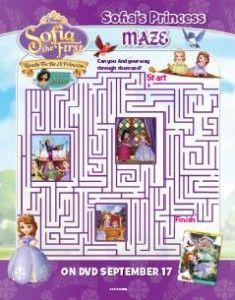 Sofia The First Ready To Be A Princess - Maze Printable Activity Sheet