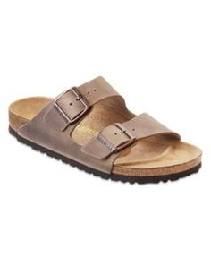 Birkenstock Men's Arizona Two Band Oiled Leather Sandals - Brown