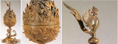 Ancient gilt-bronze incense burners of Baekje Dynasty