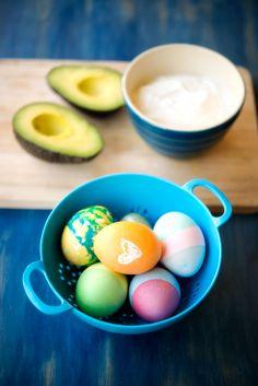 Deviled Eggs | Garlic, My Soul - Easy #avocado deviled eggs for your leftover #easter eggs!