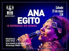 """21/05 ♥ Show de Ana Egito """"O Expresso de Minas"""" no Otto Music Hall ♥ RJ ♥  http://paulabarrozo.blogspot.com.br/2016/05/2105-show-de-ana-egito-o-expresso-de.html"""