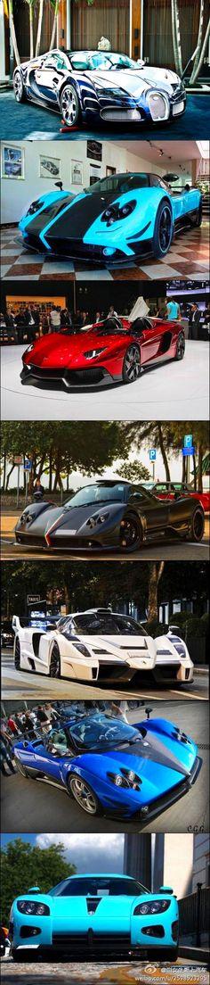 【图】全世界仅一辆的超级跑车 1:布加迪威龙L'Or Blanc 2:柯尼塞..._XGF055436的收集_我喜欢网