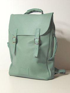 Sac à dos sac à dos cuir souple de grande vert / sur commande