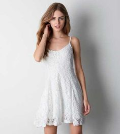 AEO Lace Fit & Flare Dress