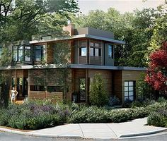 Yale Rd.  2784 sq. ft. modular home in Menlo Park, CA.  Architect:  Toby Long with Clever Homes.  Modular Home Builder:  Irontown Homes.  Expected completion date:  6/1/14. by @sustanahomes