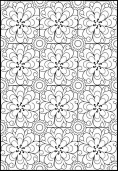 pattern stained glass coloring page #free #printable #diy #crafts
