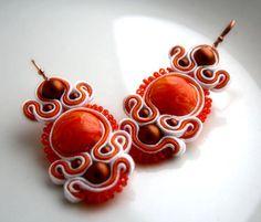 orange peel - soutache earrings