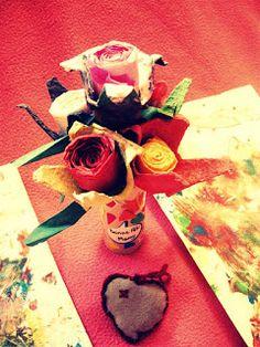 Handmade Custom plié Livre Art Noël Anniversaire GRAN Rose Grand-Mère Cadeau