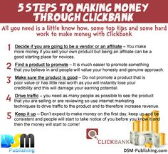 5 steps to making money through clickbank #clickbank #tips #makemoneyonline