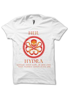 "Heil Hydra from XTEAS ""Hail, HYDRA! Immortal HYDRA! We shall never be destroyed! Cut off a limb, and two more shall take its place! We serve none but the Master - as the world shall soon serve us! Hail HYDRA!"" Limited Edition T-Shirt"
