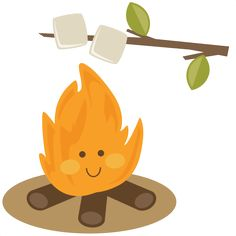 Cute Campfire SVG file for scrapbooking roasting marshmallows svg cut file for cutting machines Camping Clipart, Roasting Marshmallows, Silhouette Online Store, Cute Clipart, Cartoon Faces, Vinyl Crafts, Vinyl Projects, Felt Crafts, Cute Illustration