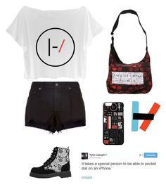 """""""Twenty One Pilots"""" by an-internet-girl ❤ liked on Polyvore featuring rag & bone, T.U.K., fandom, 21pilots and butseriouslyiwantallofthis"""