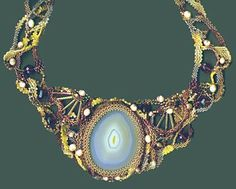 Freeform Peyote Necklace by Maria Oldring - Beadwork