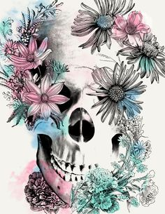 Floral Skull by: BioWorkZ