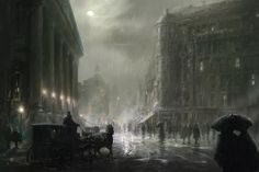 The concept art behind Assassin's Creed Syndicate's beautiful Victorian London - The Verge Victorian London, Victorian Gothic, Gothic Lolita, Gothic Fantasy Art, Fantasy City, Dark Fantasy, Adventure Aesthetic, City Aesthetic, Assassins Creed
