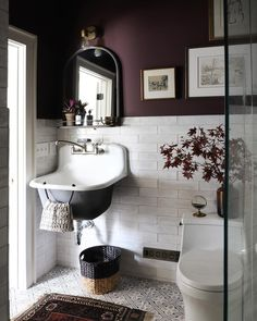 Design by I Spy DIY. Boho Bathroom, Bathroom Trends, White Bathroom, Bathroom Towel Hooks, Modern Bathroom, Small Bathroom, Bathroom Color Schemes, Bathroom Paint Colors, I Spy Diy