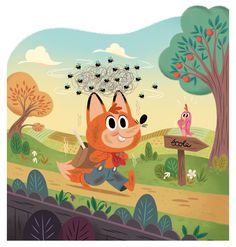 I'm a character designer, art director and illustrator freelance. Book Background, Animation Background, Cute Animal Illustration, Children's Book Illustration, Character Design References, Character Art, Cartoon Books, Little Pigs, Cute Characters