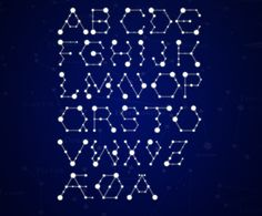 Starsign/molecule display font. Experimental  Mortani