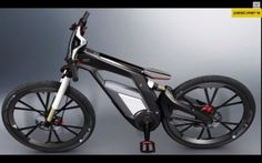 This electric bike was designed by Audi as part of the Worthersee Tour, a big car event in Austria. It combines an electric motor with your own pedal power.