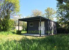 Modern garden house.
