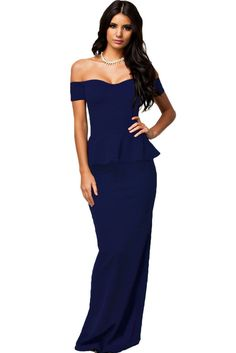 Long Elegant Prom Evening Party Dress With Off Shoulder Style – Kolkos Fashion
