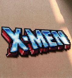 X-Men logo perler bead sprite