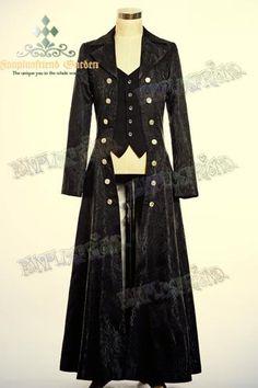 I found 'Elegant Gothic Aristocrat False 2pcs Brocade Long Coat' on Wish, check it out!