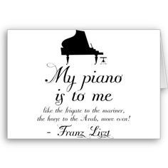Liszt Piano Classical Music Quote Greeting Cards