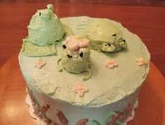 Pretty Birthday Cakes, Pretty Cakes, Just Cakes, Cakes And More, Mini Cakes, Cupcake Cakes, Frog Food, Pastel Cakes, Frog Cakes