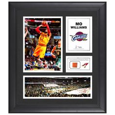 """Mo Williams Cleveland Cavaliers Fanatics Authentic Framed 15"""" x 17"""" Collage with Team-Used Ball - $63.99"""