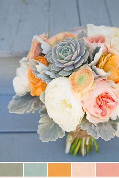 My favorite bouquet...I'll end up using the colors for the nursery.
