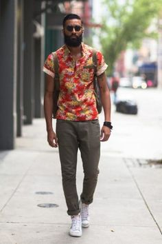 Men's Floral Pattern Style | Famous Outfits