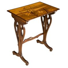 1stdibs | A Single Marquetry inlaid Occasional Table by Emile Galle