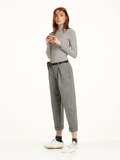 Wool Pleated Chinos