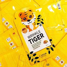 L'affair Animal Wrinkle Tiger Mask x10pcs (bulk)