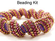 Beading Kit and Tutorial  Elegant Twist Tubular by SimpleBeadKits, $62.00