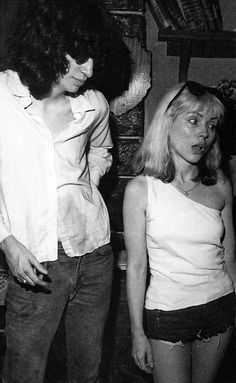 // Joey Ramone and Debbie Harry in Punk Magazine's Mutant Monster Beach Party