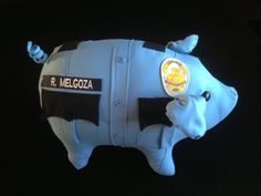 www.pig-skin.com Law Enforcement Gift. Police Officer piglets made from their own uniform. Great for police and military retirements!