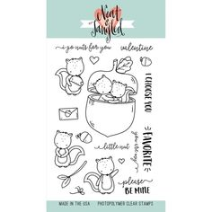"468457 Neat & Tangled Clear Stamps My Favorite Nut 4""X6"""