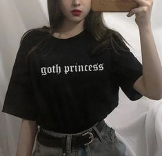 Goth Princess, Alternative Outfits, Cheap T Shirts, T Shirts For Women, Clothes For Women, Hip Hop, Punk, Tees, Sleeves