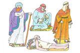 Primary Cutout Illustration Good Samaritan lesson