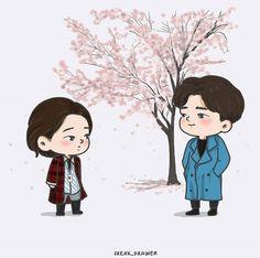 #goblin #kdrama #korean #korea #koreandrama #grimreaper #euntak #gongyoo #cute #animated #chibi #fanart #sunny #winter