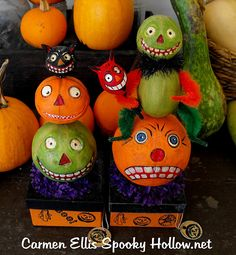 e0e897e598d OOAK Vintage style Halloween paper mache candy container ROUND BOX made to  order