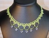 Frog Holler Creations--My Aunt and Uncles Jewelry Company. This is a favorite of mine. Tatted lace and crystal necklace