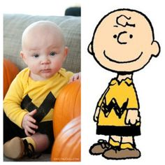 Baby Charlie Brown Halloween costume. This one's going to have to happen!!